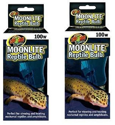 Picture of (2 Pack) Zoo Med Moonlite Reptile Bulbs - 100 Watts each