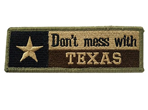 Yanan Shoulder Emblem Brassard Don't Mess with Texas Tx State Flag Usa Army Morale Tactical Forest Velcro Arm Badge Patch Label,1 PCS