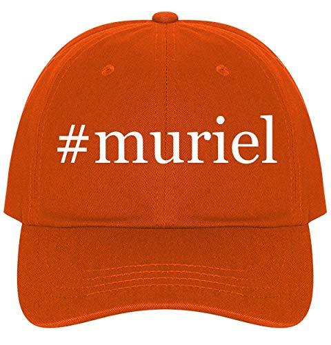 The Town Butler #Muriel - A Nice Comfortable Adjustable Hashtag Dad Hat Cap, Orange