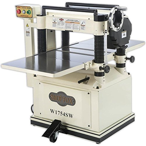 "Shop Fox W1754SW 20"" Planer with Mobile Base and Spiral Cutter head"