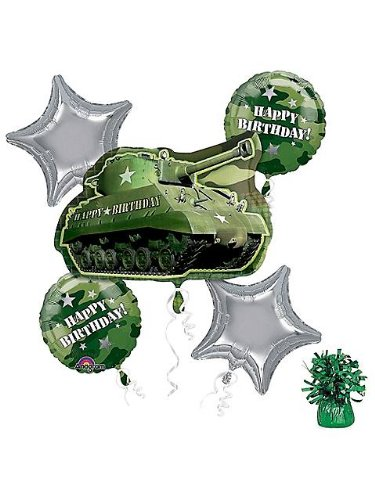 Costume Supercenter BB102118 Army Party Balloon (Star Styled Costumes)