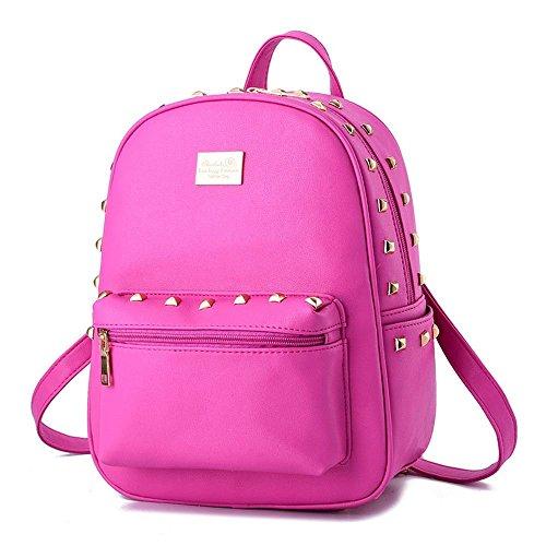 Desklets Girl Women's Rivets Backpack Daily Shoulder Bags Stacchel - Black Sales Froday