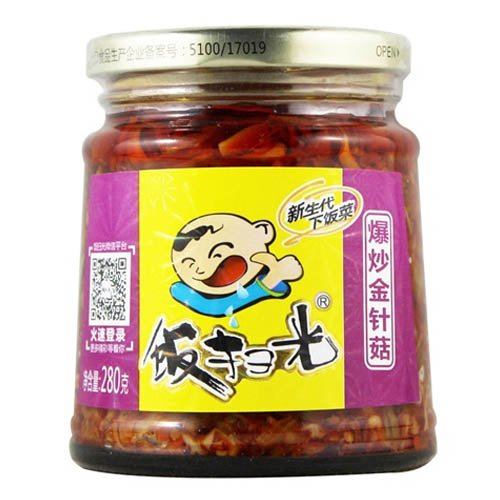 (Fangsaoguang Enoki Mushroom Pickles, 280g (Pack of 1))