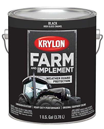 Krylon 1962 Farm & Implement Brush, High Gloss, Black, 1 Gallon Architectural Paints