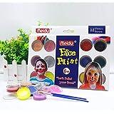 Gesichtsfarbe, Professional 12 Farben + 2 Bürsten Face Painting Kits für Kinder | EN-71 genehmigt Nicht giftig | Lebendige Farben | Cosplay Sicher Facepainting Kit