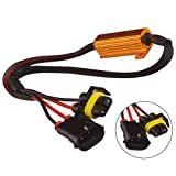 Younar 50W 6Ω Load Resistor Decoder for Automotive Fog Lamp/Driving/DRL Daytime Running Lights,Pack of 2