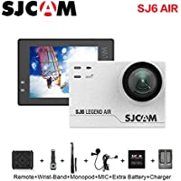 SJCAM SJ6 AIR Action Sports Camera Full HD 1080P 166°Wide Angle Waterproof Action Cam Sports DV Camcorder, White