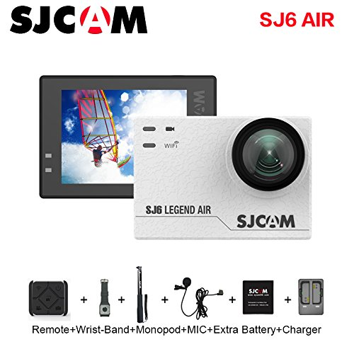 SJCAM SJ6 AIR Action Sports Camera Full HD 1080P 166°Wide Angle Waterproof Action Cam Sports DV Camcorder, White Action Cameras SJCAM