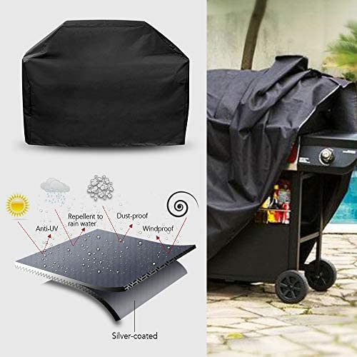 BBQ Grill Cover Protection Contre Les Rayons UV Contre Les intempéries Protection Contre la poussière pour Les barbecues Grill