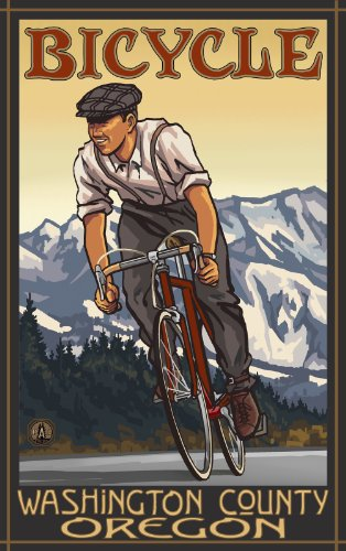 Northwest Art Mall Bicycle Washington County Oregon Downhill Biker Mountains Unframed Prints by Paul A Lanquist, 11-Inch by - South Mall County