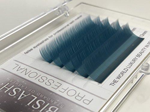 Eyelash Extensions, Ocean Blue, C curl 0,15mm/9-13mm, Mix Tray,Individual Classic Eyelash Extension
