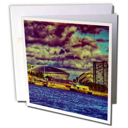 3dRose Cities of The World - City of Glasgow, Scotland - 12 Greeting Cards with envelopes (gc_268587_2) ()