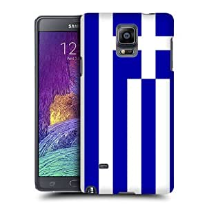 Case Fun Flag of Greece Snap-on Hard Back Case Cover for Samsung Galaxy Note 4