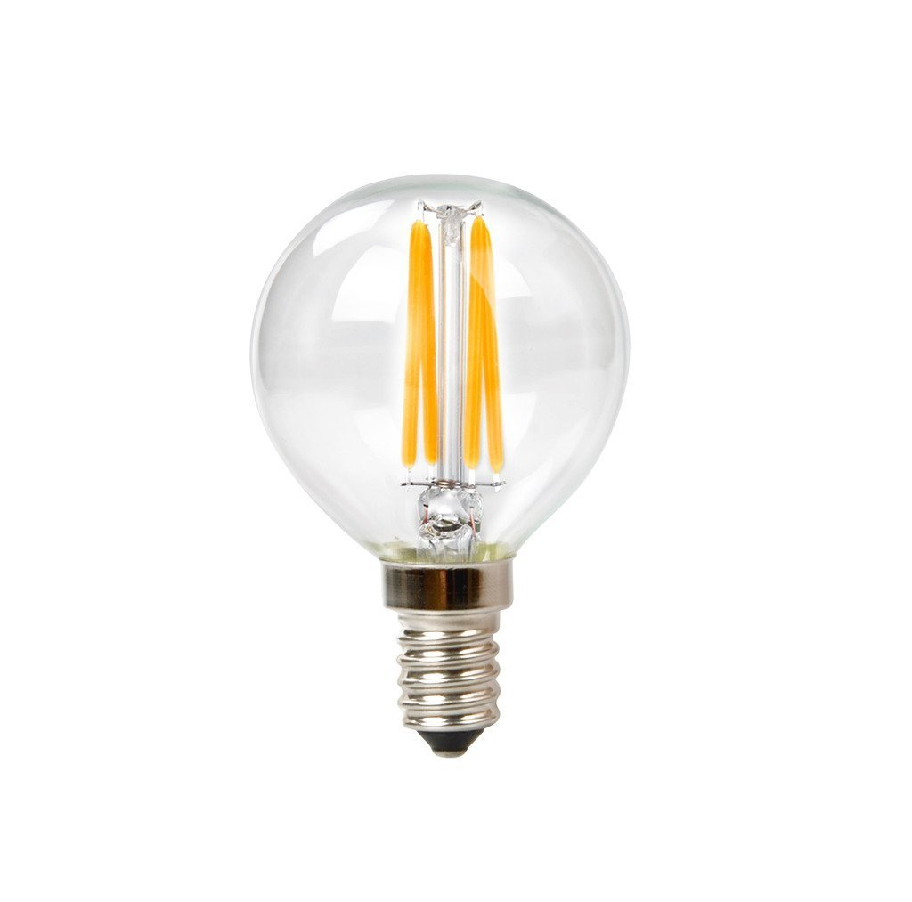 Goodlite G-19779 4.5W Filament Vintage Led G16.5 Globe E12 Base Dimmable, 600 Lumens 50K Super White = 60W Incandescent by Goodlite