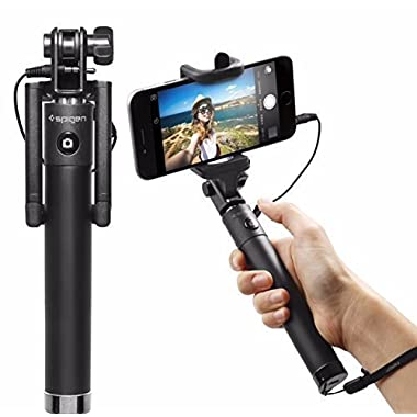 Selfie Stick, Spigen® [Battery Free] Wired Selfie Stick for iPhone SE/6S/6S Plus/6/6 Plus/5S/ GalaxyS7/ Galaxy S7 Edge/ Nexus 6p/ LG G5 & More (SGP11799)
