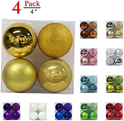 christmas balls ornaments for xmas tree shatterproof christmas tree decorations large hanging ball gold 40 - How To Decorate Christmas Balls