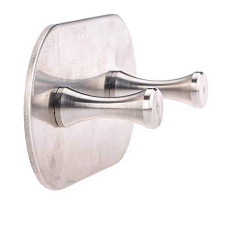 autoadhesivo titular de la clave puerta toalla percha soporte de pared para colgar gancho para toalla de mano Llaves gorro raqueta (round base single ...