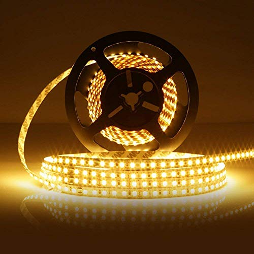 LEDMO LED Strip Light Non-waterproof SMD2835 600LEDs 3000K 16.4Ft DC12V 15LM/LED 3 times brightness than SMD 3528 LED Light Strip LED Ribbon for Kicthen Bedroom and Sitting Room Warm White by LEDMO