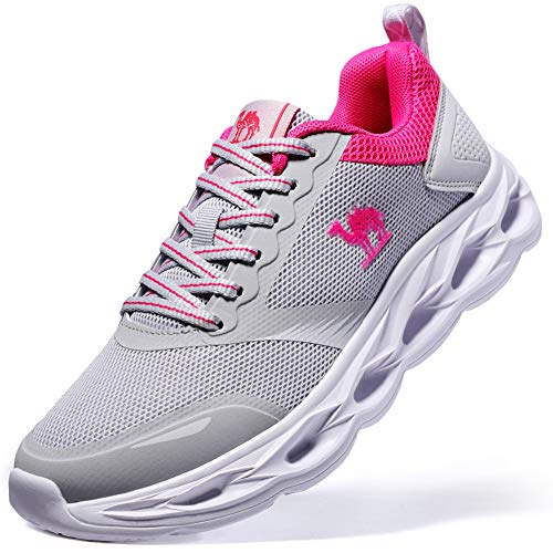 CAMEL CROWN Exercise Shoes Women Lightweight Women Running Shoes Fashion Sneakers Grey Size 7.5 Athletic Tennis Shoes for Outdoor Gym