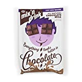 SACO Mix 'n Drink Instant Chocolate Milk, Fat-Free, Gluten-Free, GMO-Free, Low-Sugar, with Vitamins A and D, Makes 1 Quart, 6 Pack
