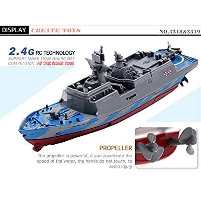 Rundao 3318 Remote Control Submarine 2.4GHz All Direction Navigate Mini Radio Control Electric Warship Boat RTR RC Submarine