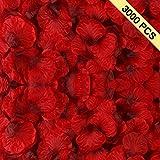 picture sun shade - BESKIT 3000 Pieces Dark Red Silk Rose Petals Artificial Flower Petals for Wedding Confetti Flower Girl Bridal Shower Hotel Home Party Valentine Day Flower Decoration