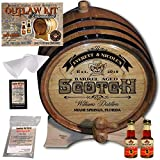 Personalized Whiskey Making Kit (101) - Create Your Own Blended Scotch Whiskey - The Outlaw Kit from Skeeter's Reserve Outlaw Gear - MADE BY American Oak Barrel - (Oak, Black Hoops, 2 Liter)