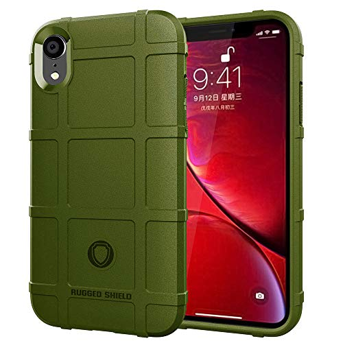 LABILUS iPhone XR case, (Rugged Shield Series) TPU Thick Solid Armor Tactical Protective Cover Case for iPhone XR (2018) - Army Green