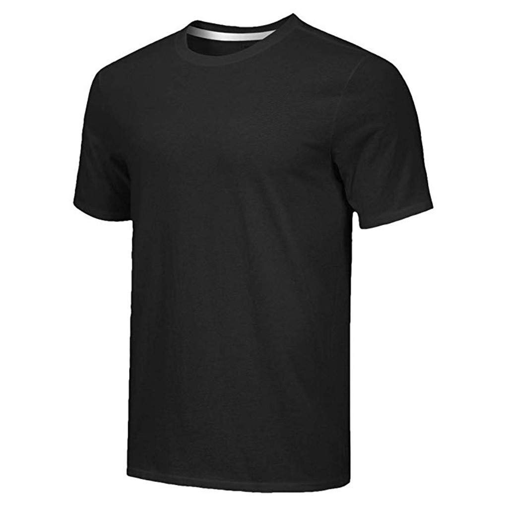 Ultramall 5PC Men's Everyday Basic V Neck T Shirt Short Sleeve Yoga Workout Top Undershirts Cool Dry Athletic by Ultramall