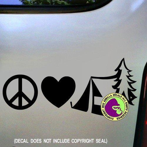 PEACE LOVE CAMPING Vinyl Decal Sticker D