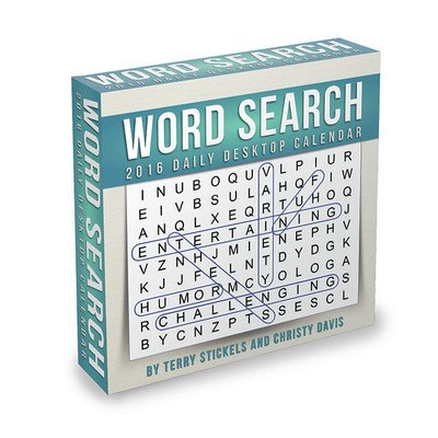Word Search Desk Calendar by TF Publishing 2016
