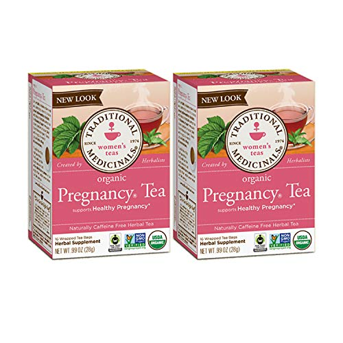 Traditional Medicinals Organic Pregnancy Herbal Tea 2-Pack;32 Count.