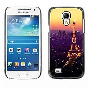 Be Good Phone Accessory // Dura Cáscara cubierta Protectora Caso Carcasa Funda de Protección para Samsung Galaxy S4 Mini i9190 MINI VERSION! // Tour De Purple Tower Paris Vibrant