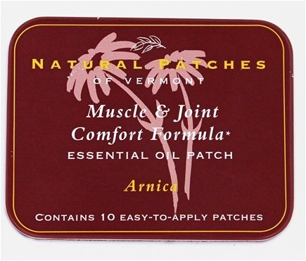 Natural Patches Of Vermont Arnica Muscle & Joint Comfort Essential Oil Body Patch, 10-Count Tin Pains 10 Patches Tin