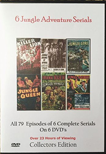Jungle Adventure Serials-Cliffhangers 6 DVD's Complete Collection Collectors Choice 1937-1953 ()