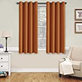 Burnt Orange Curtains H.Versailtex Thermal Insulated Blackout Shades Formaldehyde-free Kids Room Curtains,Grommet Top,52 by 63 - Inch - Burnt Orange - Set of 2 Panels