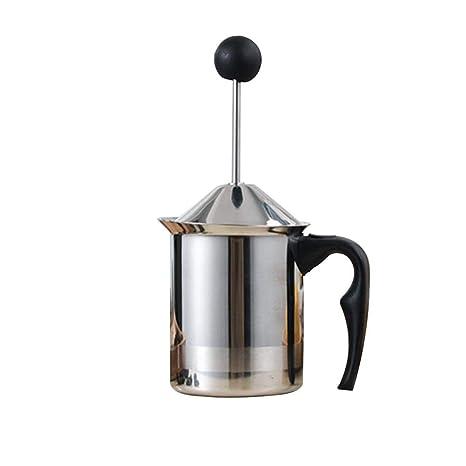 BEENZY Espumador de Leche Manual, operado a manoFam Maker para café Latte Cappuccino Chocolate Caliente