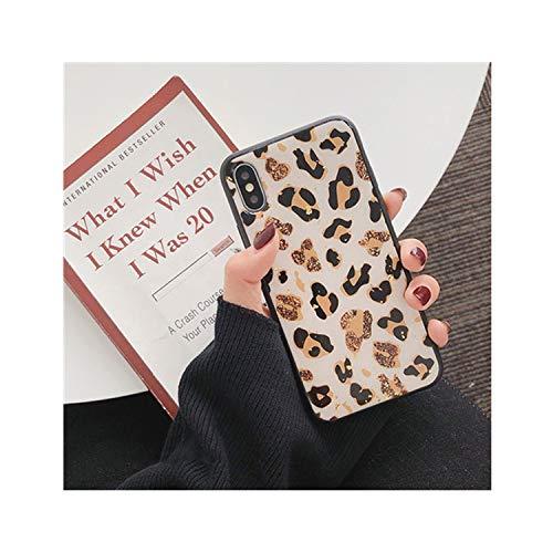 Foil Jumpsuit - Gold Foil Bling Leopard Spot Phone Case for iPhone X Xs Max Xr Soft TPU Cover for iPhone 7 8 6 6S Plus Glitter Case,A,for iPhone X