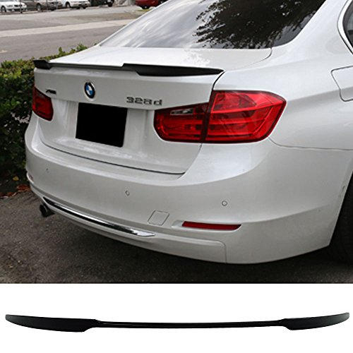 - Pre-painted Trunk Spoiler Fits 2012-2019 BMW 3series | V Style ABS Painted #475 Black Sapphire Metallic Rear Tail Lip Deck Boot Wing Other Color Available By IKON MOTORSPORTS | 2015 2016