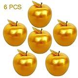 Lorigun 6 Pcs Golden Apples Golden Fruit Crafts Home Decoration Christmas Decor