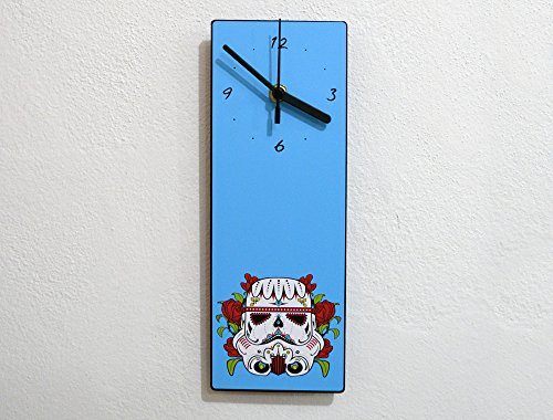 Sugarskull Stormtrooper - Day Of The Dead - Dia De Los Muertos - Mexican Carnival Holiday - Novelty Gift - Custom Name Wall Clock by inPhoenix