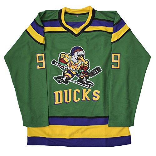(MOLPE Adam Banks 99 'Mighty Ducks Movie' Jersey S-XXXL Green (M))
