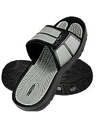 Slides Slip Shoes Sandals Slipper Comfortable Shower Beach Velcro Flip Flop Flats