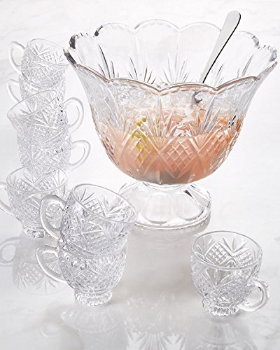 Godinger Silver Art Dublin Crystal 10 Piece Punch (Punch Bowl And Ladle)