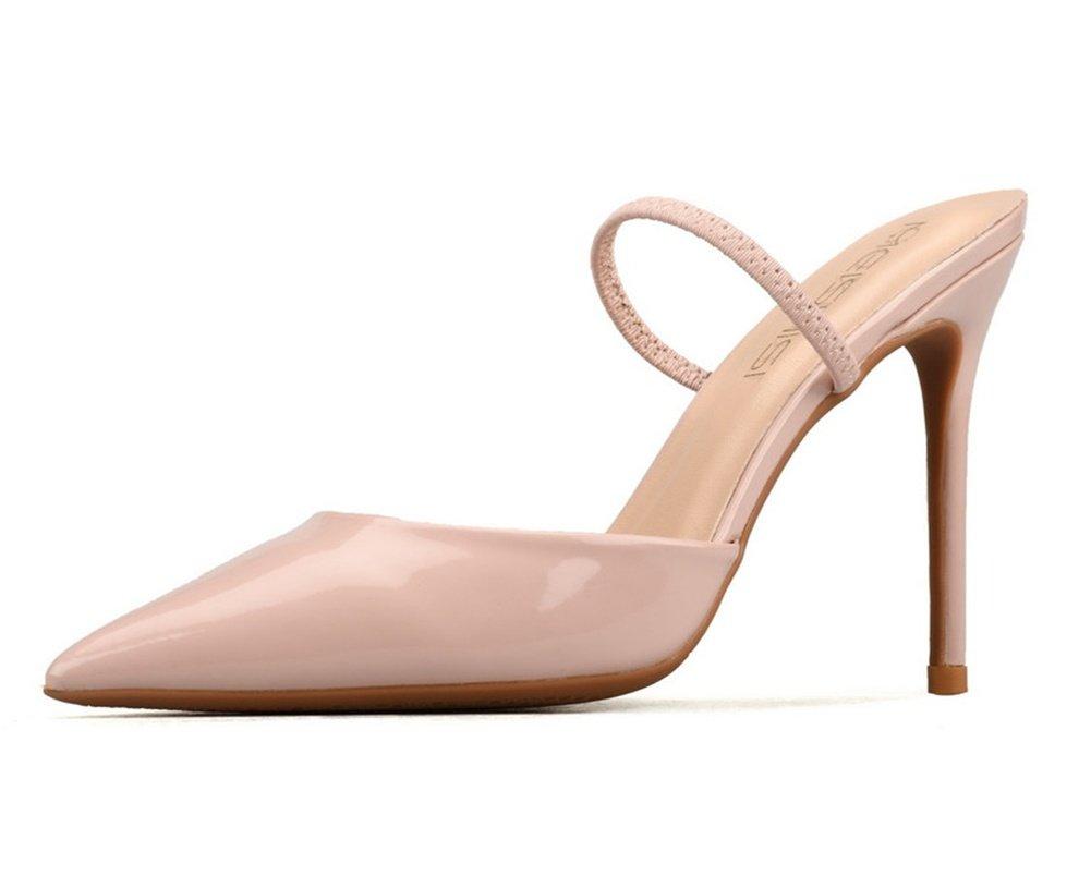 NVXIE Damen Spitz Zehe Slingback Hochzeit Kleid Gericht Schuhe Stilettos Pumpe Absätze