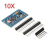 10Pcs Pro Mini ATMEGA328P Module 3.3V 8M Interactive Media Upgrade Version For Arduino - Arduino Compatible SCM & DIY Kits