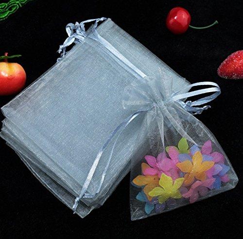 Rcdxing Approx.100 pcs Organza Pouch Wedding Favor Gift Bags Gauze bag-Gray