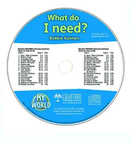 What Do I Need? (My World) by Crabtree Pub Co
