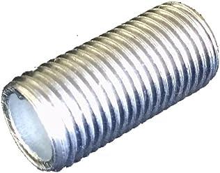 longitud 50/mm galvanizado Tubo de rosca FE de conexi/ón 10/unidades M10/x 1 tubo de l/ámpara