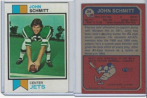 John Schmitt New York Jets (1973 Topps Football, #24 John Schmitt, New York Jets)